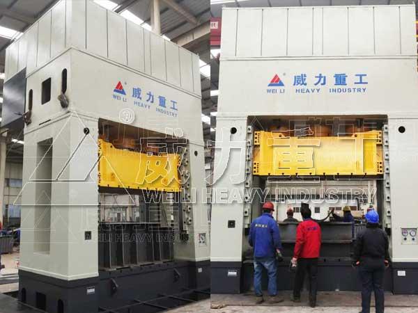快速2000吨框架式热模锻液压压力机